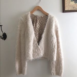 Anthropologie Fuzzy Cardigan